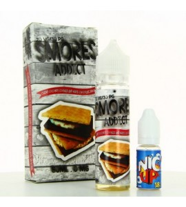E liquide Chewy Coconut Cookies and White Chocolate Smore Smores Addict 50ml