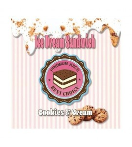 E liquide cookies & cream 50ml- ice dream sandwich
