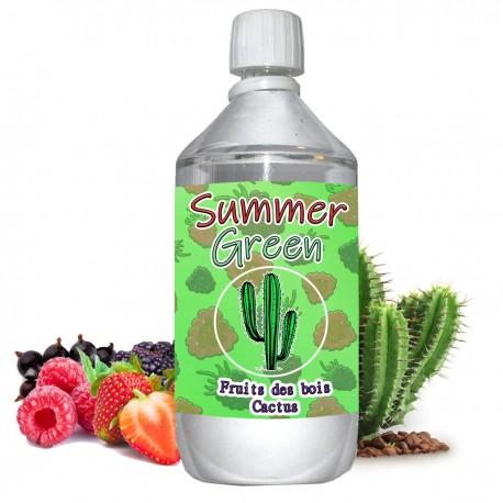 E liquide Summer Green - 1 l - 50/50 PG/VG - 1 000 ML - fruits des bois cactus