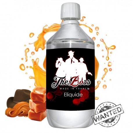E liquide The Boss- 1 l - 50/50 PG/VG - 1 000 ML - Original brun café caramel