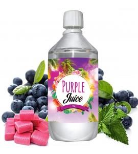 E liquide Purple Juice - 1 l - 50/50 PG/VG - 1 000 ML - Myrtille Chewing-gum fraise Menthe