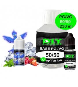 Pack e-liquide DIY facile 230ml - base, arôme, booster