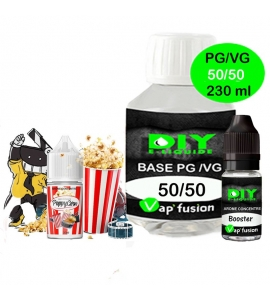 Pack base DIY facile e liquide PoppyCorn 230 ml Vap'fusion