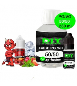 Pack base DIY facile e liquide Red diablo 230 ml Vap'fusion