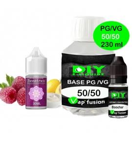 Pack base DIY facile e liquide Sweetness 230 ml Vap'fusion